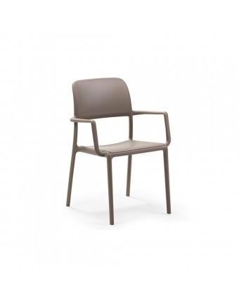 Chaise d'extérieur avec appuis-bras Riva - Tortora