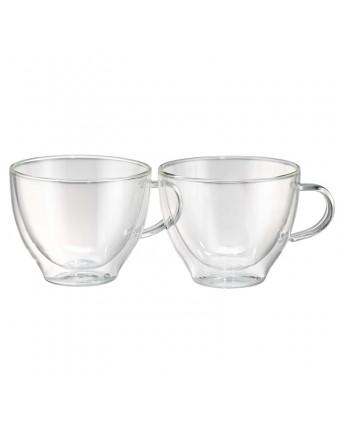 Ensemble de deux tasses en verre à double paroi 12 oz - Harmony