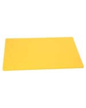 """Planche à découper en polyéthylène 20"""" x 15"""" - Jaune"""