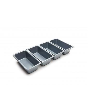 Ensemble de quatre mini-moules à pain antiadhésifs liés