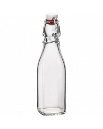 Bouteille en verre à étrier 8,5 oz - Transparent