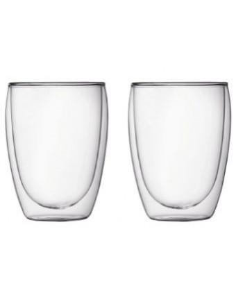 Ensemble de deux verres à double paroi 12 oz - Pavina