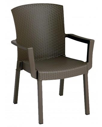 Chaise en résine avec appuis-bras Havana - Bronze