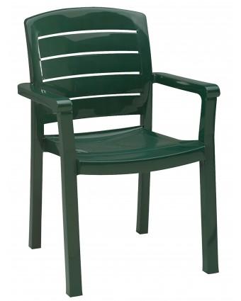 Chaise en résine avec appuis-bras Acadia - Vert amazone