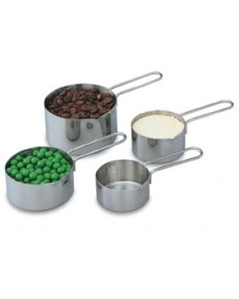 Ensemble de quatre tasses à mesurer en acier inoxydable