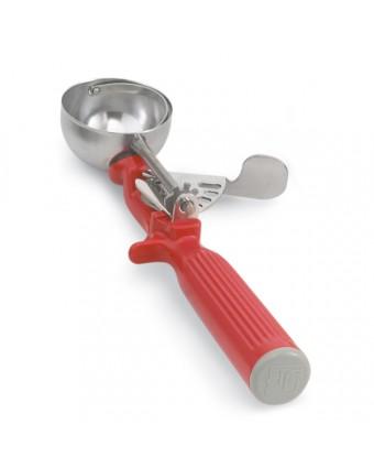 Cuillère à portion à pression #24 1-1/3 oz - Rouge