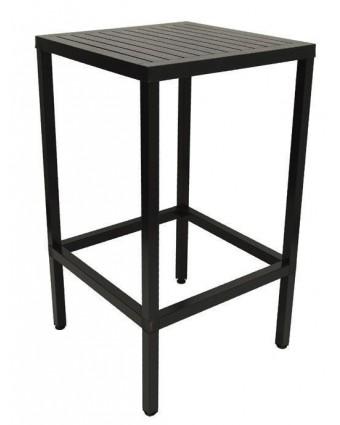 Table de bar d'extérieur carrée Cube 28'' - Anthracite