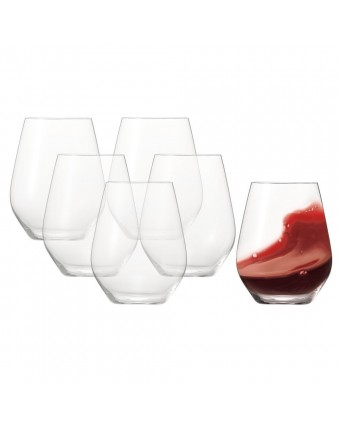Ensemble de six verres à vin rouge ou blanc 22 oz - Authentis