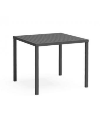 """Table basse d'extérieur carrée Cube 31,5"""" - Anthracite"""