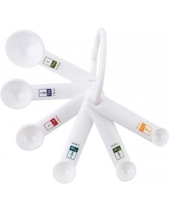 Ensemble de six cuillères à mesurer en plastique