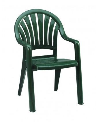 Chaise d'extérieur avec appuis-bras Pacific - Vert amazone