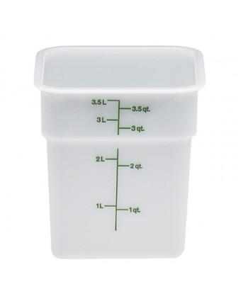 Récipient carré gradué 3,8 L - Blanc