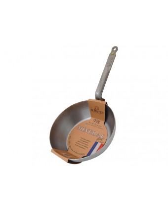 Poêle paysanne à bord haut 32 cm en acier