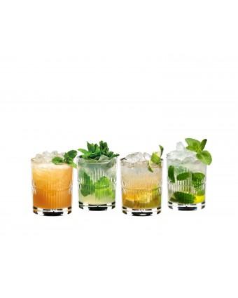 Ensemble de quatre verres à rhum 10,9 oz
