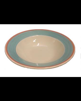"Assiette à soupe ronde 7"" - Cosmo bleu"