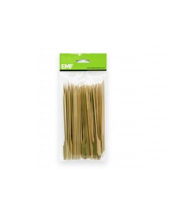 "Bâtonnets à tête plate en bambou 7"""