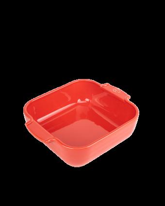 Plat de cuisson en céramique carré Appolia - Rouge
