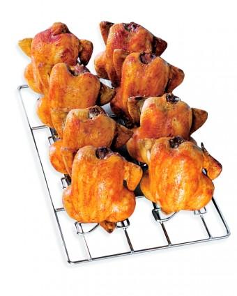 Grille-broche pour six poulets pour four combi
