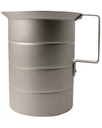 Tasse à mesurer en aluminium - 4 L