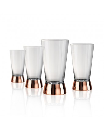 Ensemble de quatre verres highball 15 oz - Coppertino