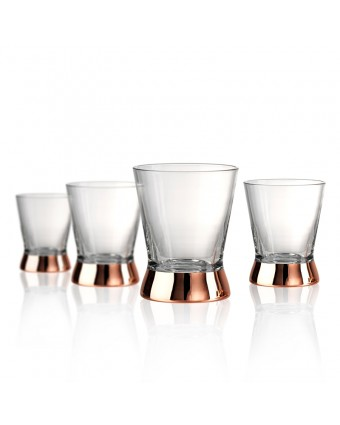 Ensemble de quatre verres à whisky 10 oz - Coppertino