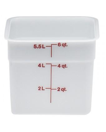 Récipient carré gradué 5,7 L - Blanc