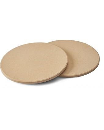 """Ensemble de deux pierres à pizza en céramique 10"""""""