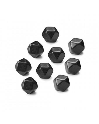 Ensemble de 9 glaçons - Granite noir