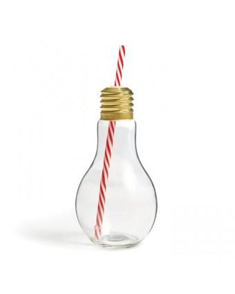 Bouteille en forme d'ampoule avec paille 17 oz