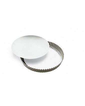 Moule à quiche ou à tarte en aluminium à fond amovible 10''