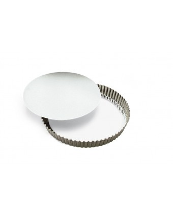 Moule à quiche ou à tarte en aluminium à fond amovible 9,5''