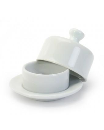 Beurrier en porcelaine