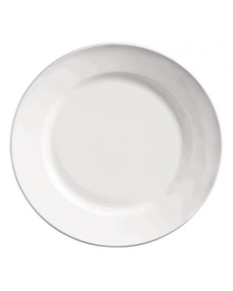 """Assiette ronde à bord large 9"""" - Porcelana"""