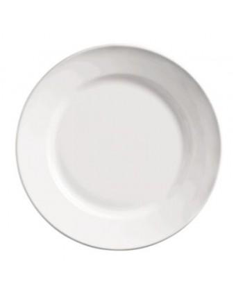 """Assiette ronde à bord large 10,5"""" - Porcelana"""