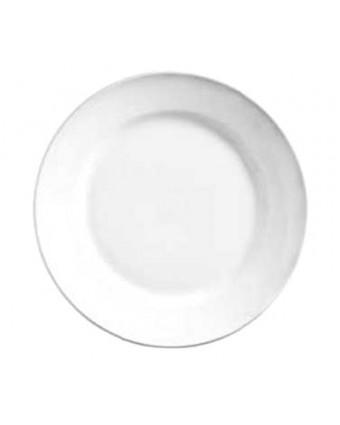 """Assiette ronde à bord large 11"""" - Porcelana"""