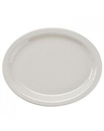 """Assiette ovale à bord étroit 11,5"""" x 9"""" - Porcelana"""