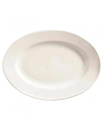 """Assiette de service ovale 13,75"""" x 9,875"""" - Porcelana"""