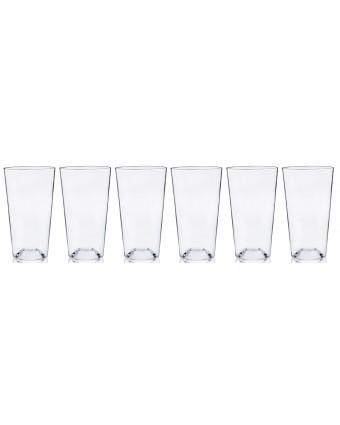 Ensemble de six verres à bière en plastique 20 oz
