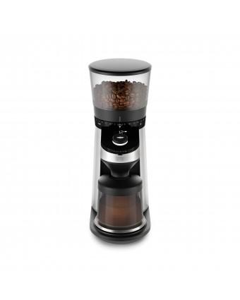 Moulin à café à meule conique et balance intégrée - Acier inoxydable
