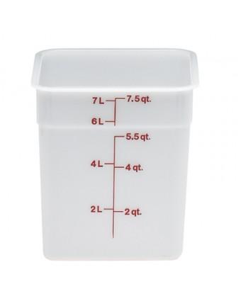Récipient carré gradué 7,6 L - Blanc