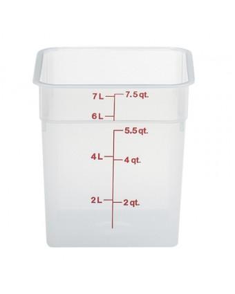 Récipient carré gradué 7,6 L - Translucide