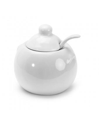 Sucrier avec couvercle en porcelaine 8 oz