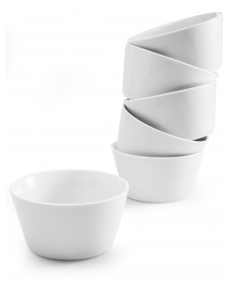 Ensemble de six ramequins ronds en porcelaine 6 oz - Oslo