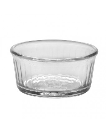 Ensemble de quatre ramequins ronds en verre 3,3''