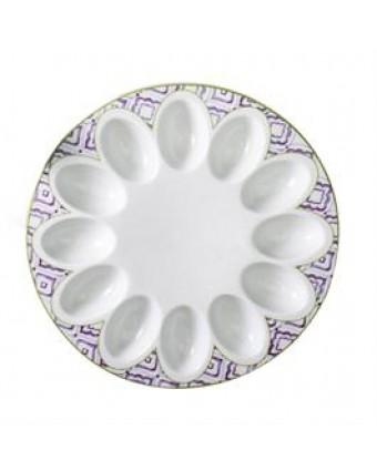 """Assiette pour œufs farcis Marrakech 10"""""""