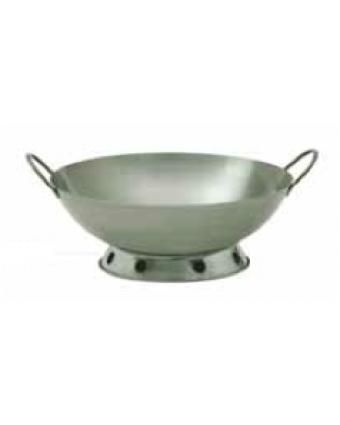 Support à wok en acier chromé