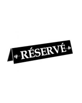 Enseigne de table en plastique « Réservé »