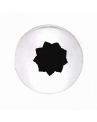 Douille étoile fermée en acier inoxydable #22