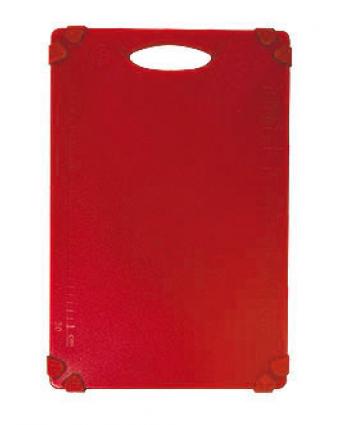 """Planche à découper en polyéthylène 20"""" x 15"""" - Rouge"""