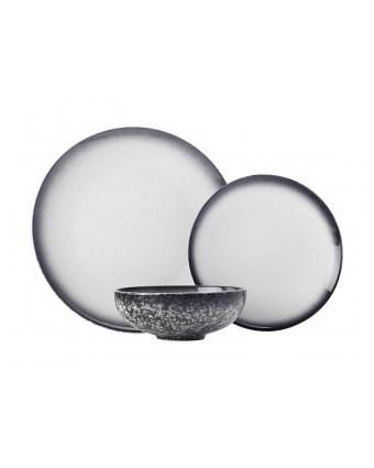 Ensemble de vaisselle douze pièces - Caviar Granite